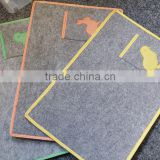 00062110 factory direct selling new style food safe eco-friendly placemat with pocket made of felt