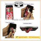 China manufturer cheap price 2 in 1 sickly phone stand screen cleaner