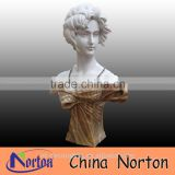 Gift stone carving roman yellow marble bust of woman NTMS-B057Y