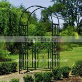 wrought iron garden arch with gate LMGRG-51002