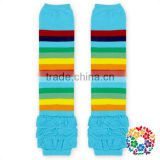 New Style Knitted Leg Warmers For Baby Colorful Cotton Ruffle Knitting Leg Warmers For Kid Wholesale Children Legwarmer