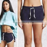 High Quality Women Summer Fashion Sport Wear Contrast Trim Dolphin Boxer Running Gym Shorts