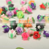 Multicolor flower clay beads diy handmade flower Porcelain charms cheap Ceramic beads wholesale