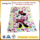 wholesale high quality throw printed coral fleece blanket