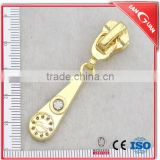 High quality No.5 fashion zipper head hanger plating gold zipper slider for metal zipper for bag