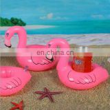 swimming pool float Inflatable pink flamingo coasters cup drink holder