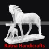 LiIFE SIZE Animal Figure in White Marble Statue D0022 - HORSE