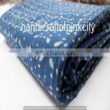 5 yards Indian Hand Made hand block print cotton fabric dabu Indigo Color Behosi