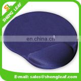 Blue gel mouse pad with wrist rest support