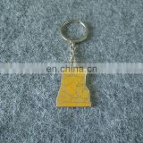 customized factory price personalized shape and logo metal key chain