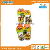 Summer style beach palm turtle design magnets 3d resin flip flops fridge magnet