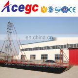 River sand collecting drill dredge boat and transport barge for sale