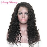 100% Natural Human Hair Wig Handmade Frontal Swiss Lace