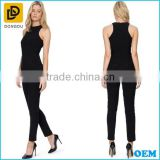 Sleeveless Style Zip On The Back Deign Fashion Slim Fitting Women Jumpsuit