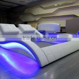 latest modern bed designs with LED light and speaker                                                                         Quality Choice