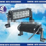 "DC10-30v 7.5"" 36w double row led work light bar auto accessories combo light for police car"