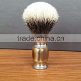 Hand made Acrylic Metal Handle Silvertip badger Hair shaving brush