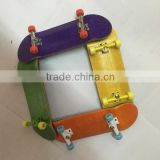 Wholesale China complete blank fingerboard deck Canadian maple wood skateboard with bearing wheels Free shipping