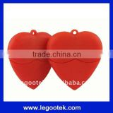 promotion item/doubt heart shape USB flash drive/OEM logo/CE,ROHS,FCC