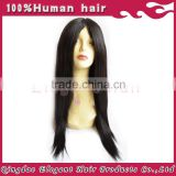 Top quality silky straight peruvian virgin Human Hair Silk Base full Lace Wig With Baby Hair