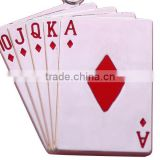 Custom fashion poker key chain Shape metal key chain Hot Sale Playing Card Poker Key Chain