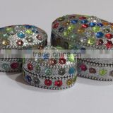 Jewelry box sets mirror trinket decorative oval pill boxes
