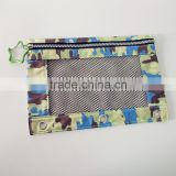 Osini profesional customed 3-ring binder camouflage fabric pencil pouch with net for school & Office