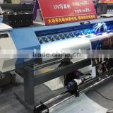 hot sale 1.9m roller uv printing machine with uv led lamp , best price uv roll to roll printer