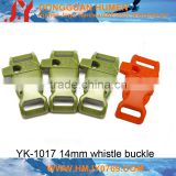 adjustable slide strap plastic buckle for backpack whistle buckle