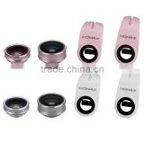 Momax Fish Eye Universal 3 in 1 Mobile Phone Chip Lenses Fisheye Wide Angle Macro Camera for iPhone 6s Plus Samsung S7 MT-5782