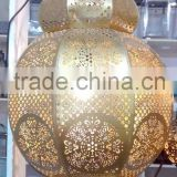 Antique Moroccan Lantern with Brass Finish