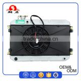 Replacement Parts Silver Brazing Water Cooling Samosa Aluminium Radiator With 60W Cooling Fan