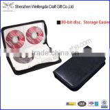 Hot Sale 80 Disc CD Holder VCD Storage Organizer Faux Leather DVD Case Wallet