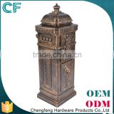 European Style Lion Decorative Free Standing Waterproof Cast Aluminum Mailbox Letter Box