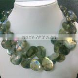 Labradorite Faceted Stone Statement Necklace