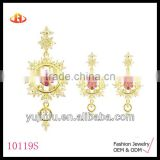Fashion Gold Plated Silver Jewellery Set, Wholesale Jewellery