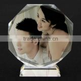 Top quality crystal memento wedding gift, crystal wedding souvenirs, crystal wedding decoration
