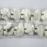 Hot-seller carved white turquoise bear beads nacklace for wholesale gems