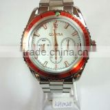 stainless steel watch men with shiny bezel