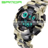 2016 Table RELOJ camouflage military digital sports watch 50M waterproof multifunction sports watch student impact shock clock
