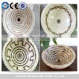 Suitable for Bathroom, Kitchen and Outdoors, Marble Mosaic Stone Sink Wash Basin                                                                         Quality Choice