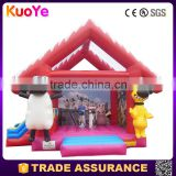 most popular shaun sheep theme inflatable trampoline rental or sale