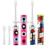 Sonic Electric Toothbrush Waterproof Whitening Prevent Tooth Decay Removes Plaque with 2 Extra Replacement Brush Heads SV030693