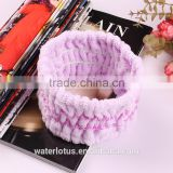 hotsale microfiber hair band stretch with satin lace design favorite gifts craft for kid