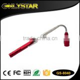 Onlystar GS-8040 3led telescopic flashlight torch tools magnetic pick up flexible flashlight                                                                         Quality Choice