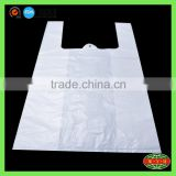 custom material plastic bag accept printing / cheap clear t-shirt plastic bags