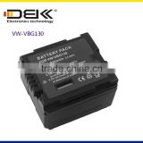 Rechargeable battery VW-VBG130 For Panasonic HDC-SD9 HDC-HS9 HDC-SX5 HDC-DX1