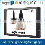 FlintStone 19 inch motion activated pos pos shelf edge logo printing lcd display monitor