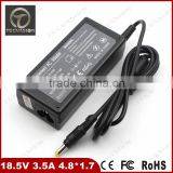 Brand New 18.5v 3.5a 4.8*1.7mm 65W Laptop Charger For HP Pavilon DV1000 DV1300 DV1400 Power Adapter Hotest