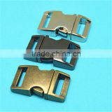 Zinc alloy curved metal buckle clasp,quick release buckle for bag,metal buckle for dog collar